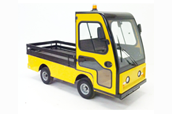 Flat Bed Buggy with cab and wooden sides